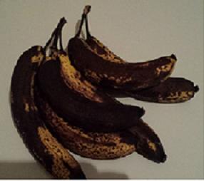 Überreife und unansehnliche Bananen