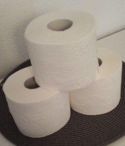 Geld einsparen - Tipp für absolute Geizhälse und Umweltschoner. Verwenden Sie die Umverpackung von Toilettenpapier als Müllbeutel.